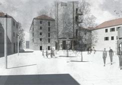 Revitalisation of Frankopan square in Senj – public market building and Writers of Senj Memorial House
